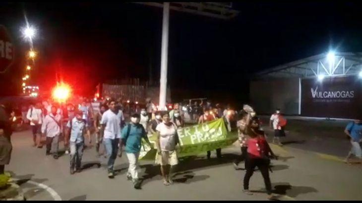 Huelga Indefinida: Integrantes de la Federación Agraria de Alto Amazonas, bloquean desde anoche la carretera Yurimaguas Tarapoto
