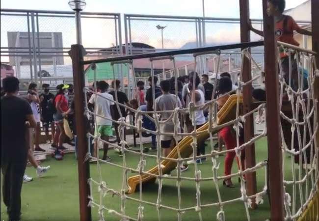 Tarapoto: Polideportivo y parque infantil de Urbanización Los Jardines genera aglomeración de jóvenes a pesar de la pandemia