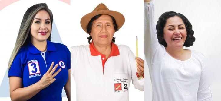 Por primera vez su historia, la Región San Martín contará con 3 representantes mujeres en el Congreso de la República