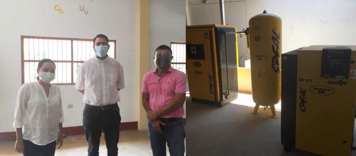 Ayer dos regidores de la MPSM sostuvieron reunión con el Párroco de Picota