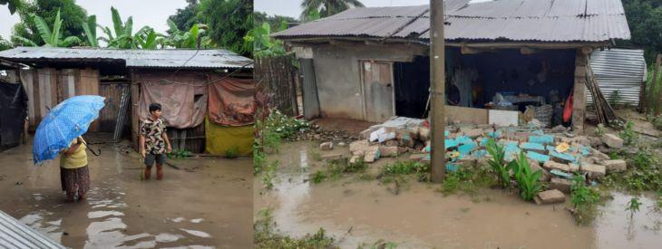 Las fuertes lluvias causaron el colapso del sistema de drenaje y cunetas en Piscoyacu