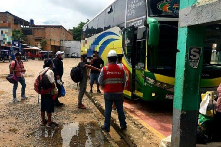 Despliegan operativo contra la trata de personas en terminal terrestre de Tarapoto