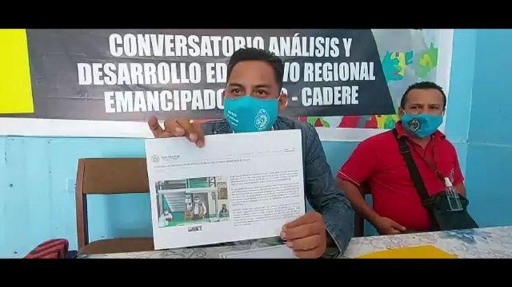 Covid-19: Sindicalistas del SUTEP no aceptan reinicio de clases presenciales en la región