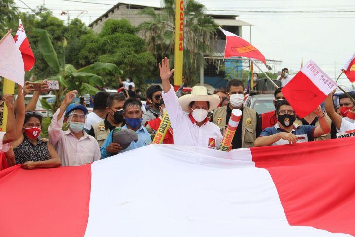 Candidato presidencial de Perú Libre, profesor Pedro Castillo Terrones, realiza hoy maratónica gira en la región San Martín
