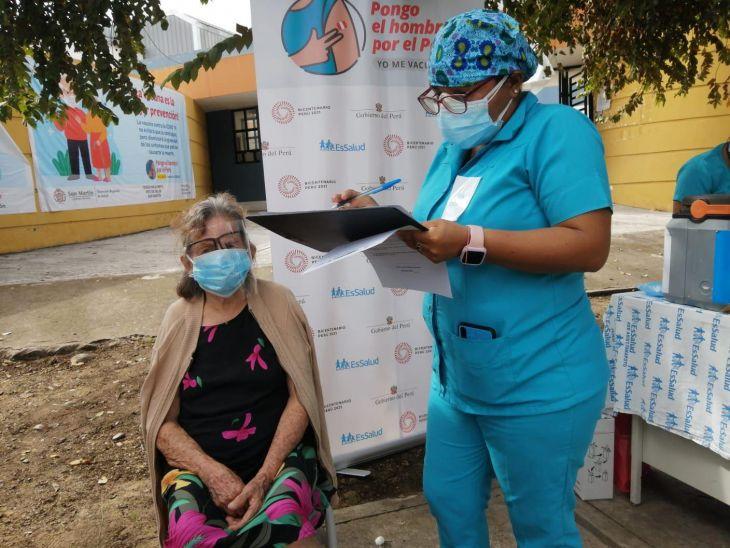 San Martín: Mañana se inicia vacunación contra la Covid-19, para personas de 60 años a más