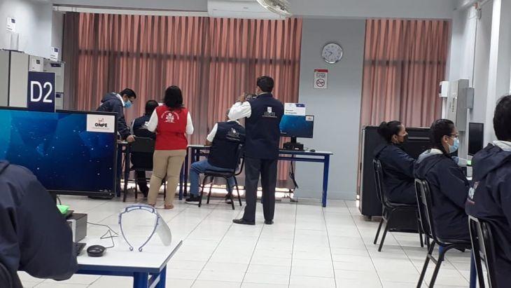 Con prueba del centro de cómputo y capacitación a miembros de mesa, ODPE San Martín deja todo listo para segunda vuelta electoral presidencial