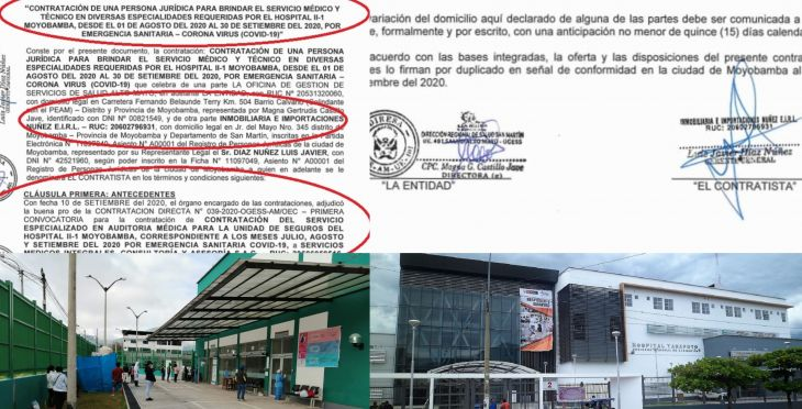 """Diario Amanecer: """"Afortunada"""" Inmobiliaria también provee de médicos especialistas a hospitales Tarapoto y Moyobamba en medio de emergencia por pandemia y cambió razón social a """"Corporación"""""""