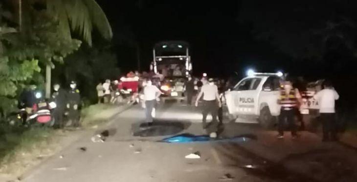 Dos personas fallecieron anoche tras ser arrastrados por un tráiler en el km. 42 de la carretera Yurimaguas – Tarapoto