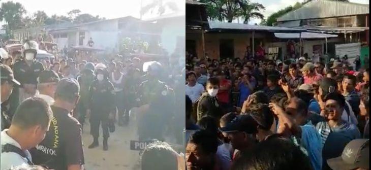 Pobladores de Huimbayoc retuvieron ayer domingo a 10 policías antidrogas