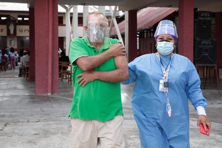 Hoy continúa jornada de vacunación contra la Covid 19 en distritos priorizados en la Región San Martín