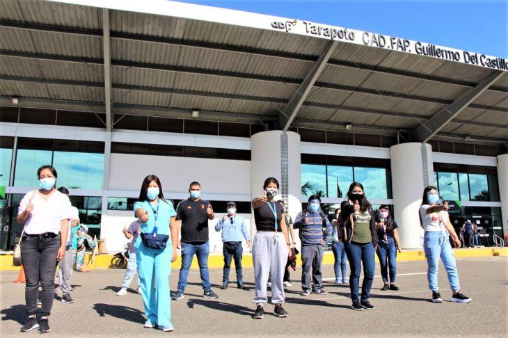Hospital Perú refuerza con 10 médicos y 5 enfermeras respuesta rápida contra la COVID en hospital de EsSalud Tarapoto