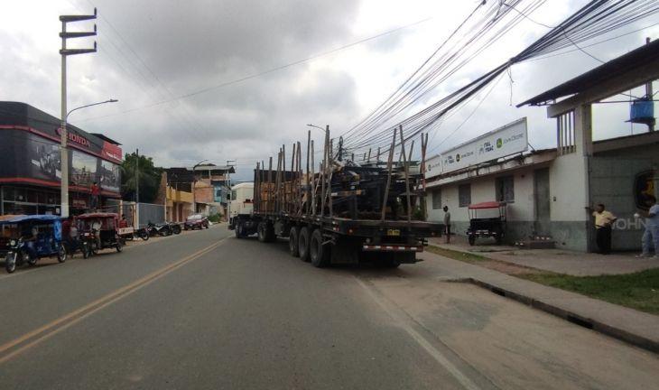 En Tarapoto no se cumple la ordenanza municipal que prohíbe el tránsito pesado en la ciudad