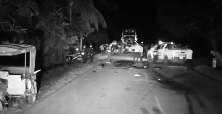 Conductor y ayudante de camión que originaron trágico accidente en vía Yurimaguas Tarapoto fueron capturados, por la Policía del Centro Poblado Alianza