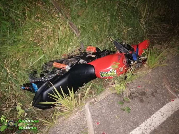 Choque frontal entre dos motocicletas se produjo en la carretera de penetración Sacanche – Saposoa, dejando como saldo una persona herida