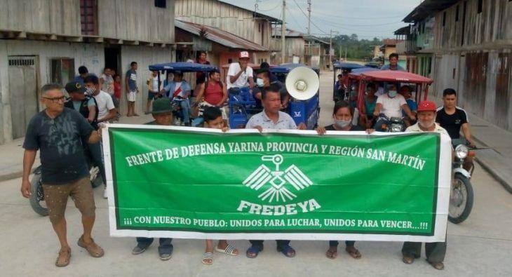 Pobladores de Yarina, Navarro y San Pablo de Tipishca se movilizarán hoy en Tarapoto