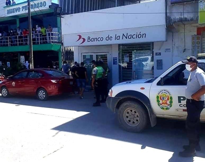 Nuevo Progreso: En 48 horas, Poder Judicial determinará situación legal de intervenidos en frustrado asalto de la Agencia del Banco de la Nación