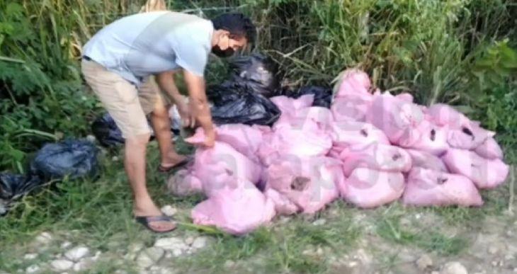 Morales: Intervienen conductor cuando arrojaba basura en la vía a Mayopampa