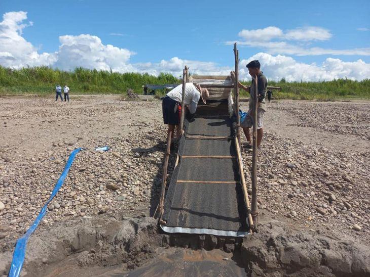 Uchiza: Cinco personas fueron intervenidas cuando buscaban oro en el Río Huallaga