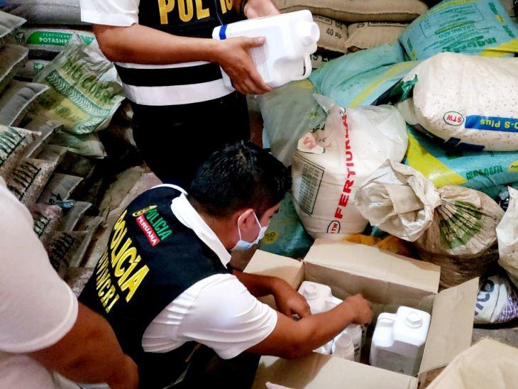 Morales: Por carecer de autorización del Senasa, incautan productos de uso veterinario y detienen al propietario de uno de los locales intervenidos