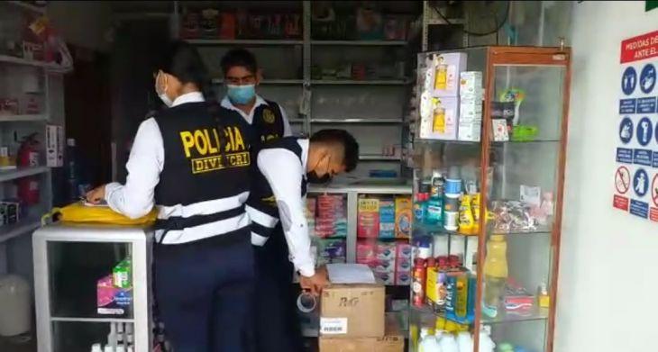 Banda de Shilcayo: Incautan 3875 unidades de medicamentos valorizados en 38 mil 750 soles en una Botica aparentemente clandestina