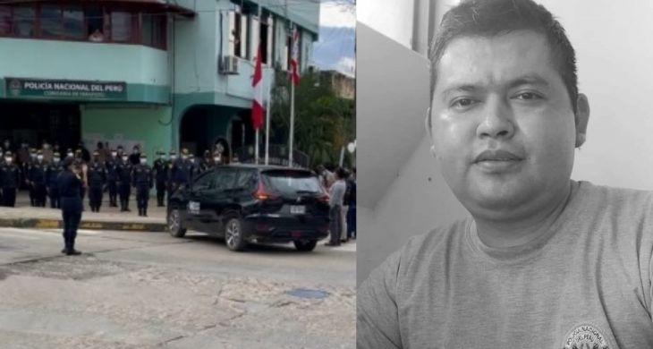 En medio de profunda consternación ayer fue enterrado Agente policial de la Comisaría de Tarapoto