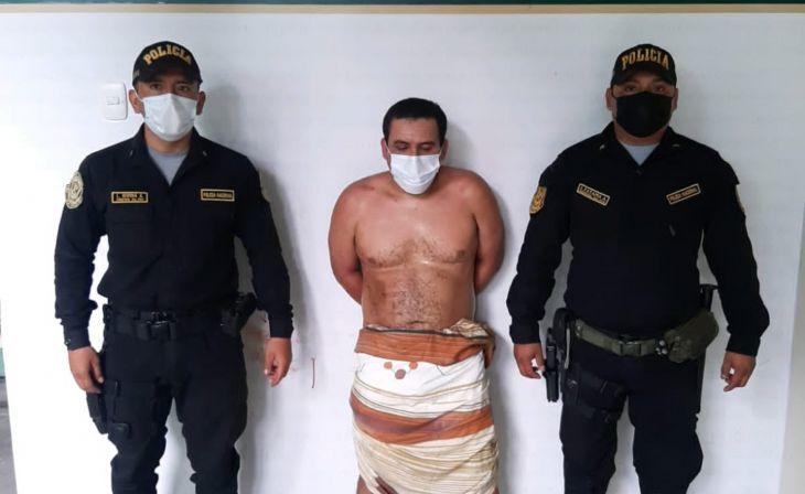 Ordenan detención judicial por flagrancia para acusado por doble crimen en Moyobamba