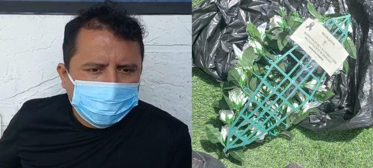 """Alcalde de Bellavista denuncia que en la puerta de su domicilio dejaron arreglo floral y un mensaje que dice: """"Vacancia o muerte"""""""