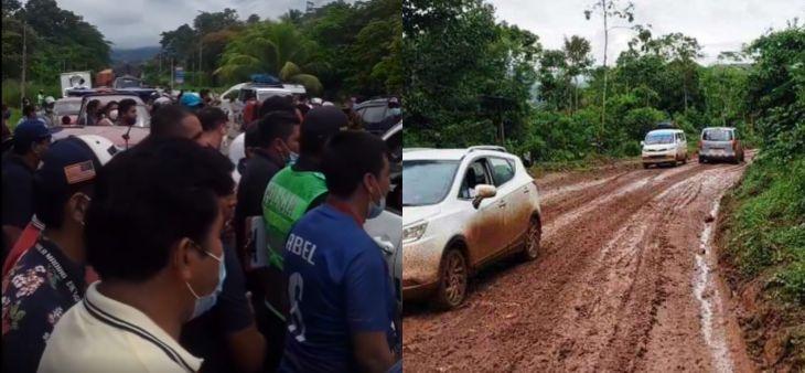 Transportistas que cubren la ruta Sauce – Tarapoto, realizarán paro de 24 horas este miércoles 16 de junio, por el mal estado de la carretera