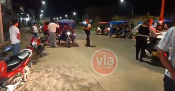 Tarapoto: Seguidores de Perú Libre fueron intervenidos anoche cuando realizaban caravana en horario de toque de queda