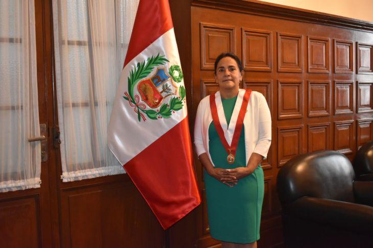 Congresista Robertina Santillana Paredes, asume la presidencia de la comisión de producción del Congreso