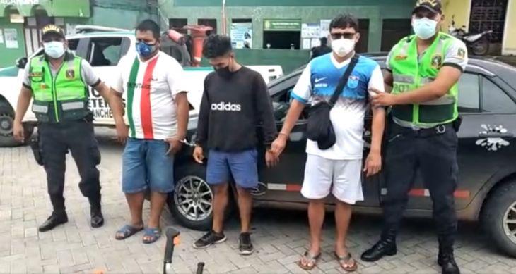 PNP de carreteras intervino a presuntos integrantes de una banda delictiva denominada los Picotinos