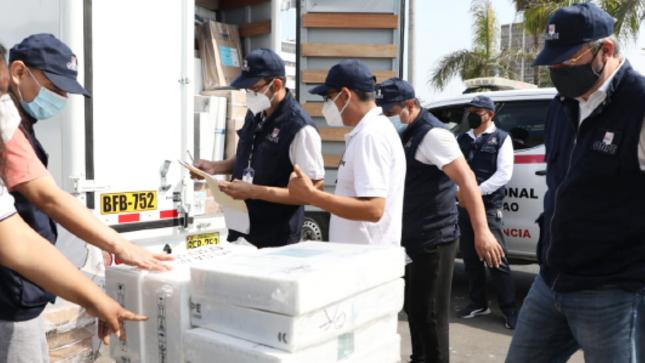 Fiscalía, verificó entrega de material electoral que será distribuido en el sur de la región San Martín