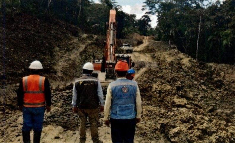 Contraloría detecta situaciones adversas que podrían afectar la continuidad del proceso constructivo en la carretera Chazuta Curiyacu