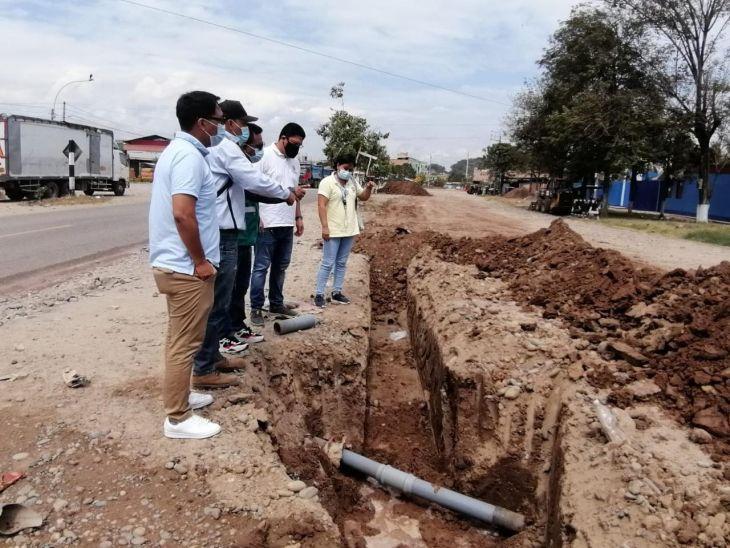 Picota: Línea de aducción de agua potable del centro de salud presenta 56% de avance