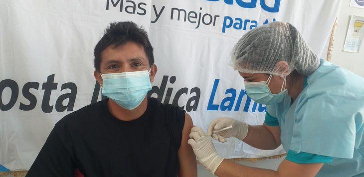 Hoy continúa jornada de vacunación contra la Covid 19 para personas de 40 a 49 años en la Región San Martín
