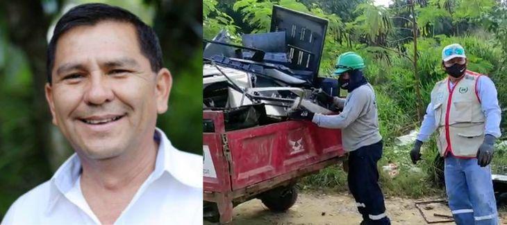 Municipalidad distrital de La Banda de Shilcayo, multa a Congresista Manuel Aguilar Zamora por tener terreno enmalezado que se había convertido en botadero de basura