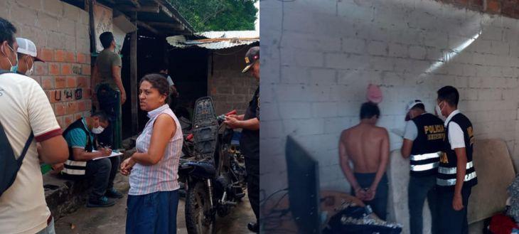Policía Nacional capturó en el distrito de Morales, a presunto roba motos de solo 18 años de edad