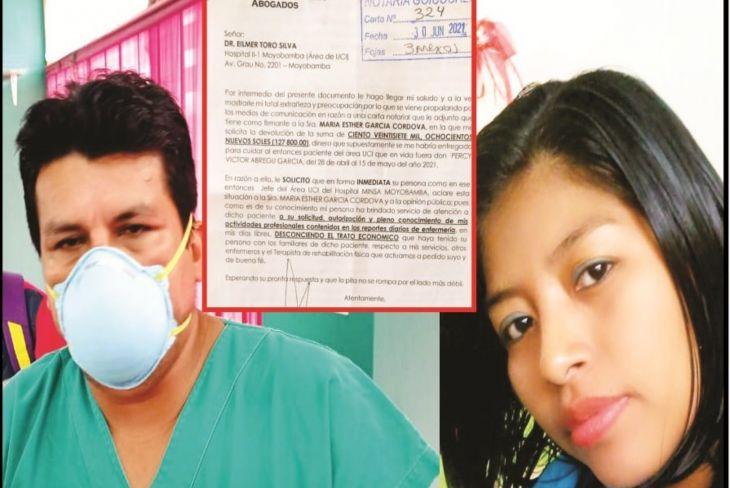 Diario Amanecer: Licenciada en Enfermería del Hospital de Moyobamba sindicada de presunto tráfico por cama UCI sigue defendiéndose ahora pide al jefe del Área Covid esclarecer el caso