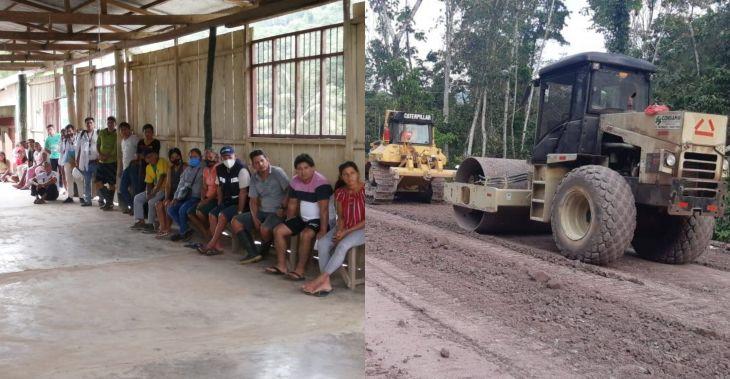 Trabajadores de la obra de construcción de carretera Chazuta – Curiyacu, denuncian que obra está estar impagos por parte de empresa constructora