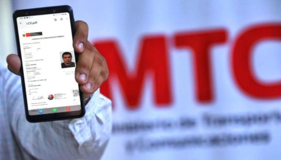 MTC dispone la emisión de licencias de conducir electrónicas para todas las regiones