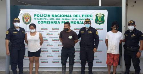 Capturan a tres presuntos integrantes de una banda criminal en Morales, personal de la Comisaría encontró 181 bolsas de PBC