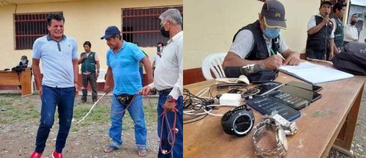 Tocache: Castigan con latigazos a sujeto señalado de robar cuatro teléfonos celulares