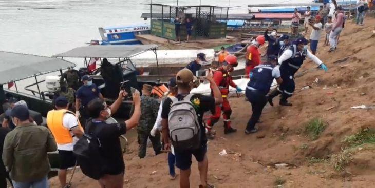 Yurimaguas: Desde las 6 de la mañana se reiniciaron labores de búsqueda de 14 personas que continúan desaparecidos tras el accidente de dos embarcaciones en el río Huallaga el último domingo