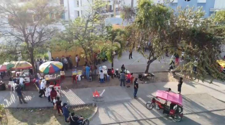Tarapoto: El único centro de vacunación que atenderá hoy sábado y mañana domingo es el que funciona en la I.E. Jiménez Pimentel