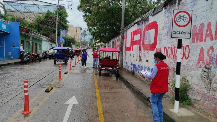 Contraloría General de La República detecta situaciones adversas en la Ciclovía de Tarapoto