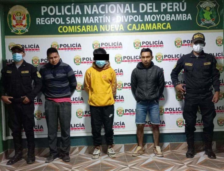 Desarticulan banda de roba motos en Nueva Cajamarca