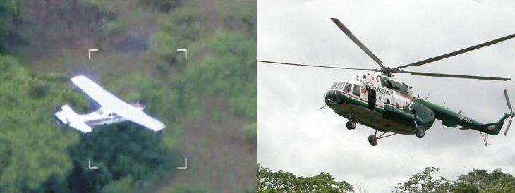 Huimbayoc: Una avioneta fue perseguida por cuatro helicópteros de la PNP en la zona de la Unión el último sábado