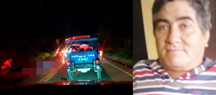 Morales: Un muerto dejó choque de automóvil con motocicleta en la carretera FBT en el sector Maronilla