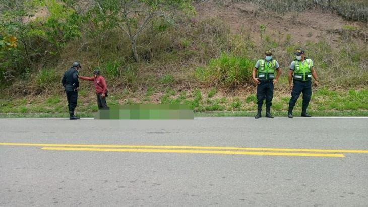 PNP continúa investigación por muerte de Reith Amaringo Sangama, ocurrido ayer en accidente de tránsito en la carretera FBT cerca de Tabalosos