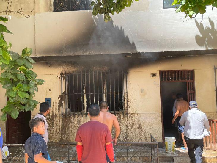 Tarapoto: Incendio deja pérdidas económicas y materiales en vivienda donde funcionaba un pequeño negocio de textilería